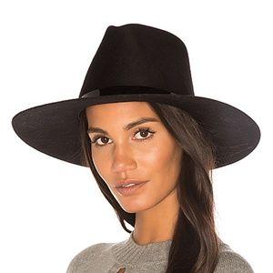 11dfe8435 Janessa Leone Womens Peyton Fedora Hat Wool Black